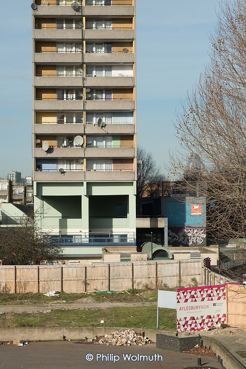 Taplow block, Aylesbury Estate, which is undergoing a regeneration scheme managed by Notting Hill Housing Trust and the London Borough of Southwark.