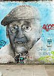 Charlie Burns the oldest man in Brick Lane. London E1.