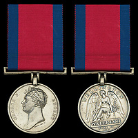 Medal awarded to an indestructible soldier at Waterloo who miraculously survived eight lance wounds.