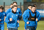 St Johnstone Training….28.10.16<br />Steven MacLean and Tam Scobbie pictured during training this morning at McDiarmid Park ahead of tomorrow's game against Partick Thistle.<br />Picture by Graeme Hart.<br />Copyright Perthshire Picture Agency<br />Tel: 01738 623350  Mobile: 07990 594431