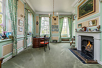 BNPS.co.uk (01202 558833)<br /> Pic: KnightFrank/BNPS<br /> <br /> Pictured: The study room.<br /> <br /> A spectacular Georgian mansion that was home to an eccentric and legendary poet during the war is on the market for £10.5m.<br /> <br /> Grade II* Listed South End House was home to Walter de la Mare in the 1940s and the writer was reprimanded for failing to observe the blackout during the Second World War.<br /> <br /> The impressive property is in a prime location on an exclusive cul-de-sac with incredible park views and glimpses of the Thames.<br /> <br /> On one occasion during the war, police rowed across the river to complain his upper windows were beaconing to the far bank.