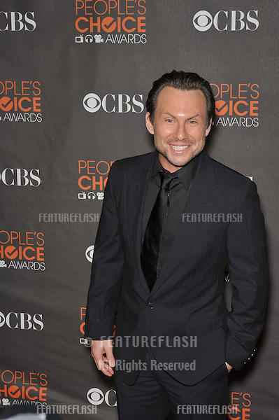 Christian Slater at the 2010 People's Choice Awards at the Nokia Theatre L.A. Live in Los Angeles..January 6, 2010  Los Angeles, CA.Picture: Paul Smith / Featureflash