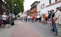 Anprache der Integrationsbeauftragten Birgit Ruhland - Gross-Gerau 10.07.2021: Protest gegen AfD Veranstaltung