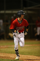 Drew Waters (15) runs to first base during the WWBA World Championship at the Roger Dean Complex on October 20, 2016 in Jupiter, Florida.  (Greg Wagner/Four Seam Images)