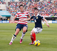 Abby Wambach, Emma Mitchell.  The USWNT defeated Scotland, 4-1, during a friendly at EverBank Field in Jacksonville, Florida.