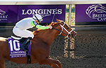 November 7, 2020 : Monomoy Girl, ridden by Florent Geroux, wins the Longines Distaff on Breeders' Cup Championship Saturday at Keeneland Race Course in Lexington, Kentucky on November 7, 2020. John Voorhees/Breeders' Cup/Eclipse Sportswire/CSM