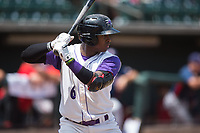 Yeyson Yrizarri (6) of the Winston-Salem Dash at bat against the Potomac Nationals at BB&T Ballpark on August 6, 2017 in Winston-Salem, North Carolina.  The Nationals defeated the Dash 4-3 in 10 innings.  (Brian Westerholt/Four Seam Images)