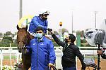 February 20, 2021: SPACE BLUES #9 ridden by William Buick wins The 1351 Turf Sprint for Charlie Appleby on Saudi Cup Day, King Abdulaziz Racecourse, Riyadh, Saudi Arabia. Shamela Hanley/Eclipse Sportswire/CSM