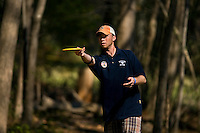 """Charlotte Disc golfers take part in the """"Carolina Clash 2009"""" at Hornet's Nest Park, in Charlotte, North Carolina. Photo taken as part of a series of spring scenes in North Carolina by Charlotte photographer Patrick Schneider. Editorial use only (no model releases)"""