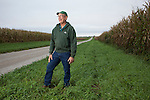 Bob Bunselmeyer grows corn and soybeans in Macon County, Ill., outside of Forsyth (north of Decatur). Photo by Kristen Schmid: (217) 553-2812; Bunselmeyer: (217) 412-3176