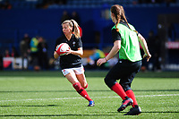 Elinor Snowsill of Wales during the pre match warm up for the Women's Six Nations match between Wales and Ireland at Cardiff Arms Park, Cardiff, Wales, UK. Sunday 17 March 2019