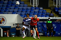 15th September 2020; Madejski Stadium, Reading, Berkshire, England; English Football League Cup, Carabao Cup Football, Reading versus Luton Town; Danny Hylton of Luton holds off a challenge