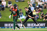 20th March 2021; Dunedin, New Zealand;  Matt Henry bowls during the New Zealand Black Caps v Bangladesh International one day cricket match. University Oval, Dunedin.