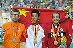 Tristen Chernove, Rio 2016 - Para Cycling // Paracyclisme.<br /> Tristen Chernove takes the bronze medal in the men's C1-2-3 100m time trial // Tristen Chernove gagne le bronze au contre-la-montre masculin C1-2-3 100 m. 10/09/2016.