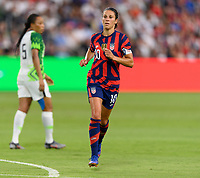 AUSTIN, TX - JUNE 16: Carli Lloyd #10 of the United States chases after the ball during a game between Nigeria and USWNT at Q2 Stadium on June 16, 2021 in Austin, Texas.