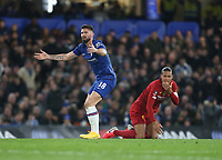 Chelsea's Olivier Giroud and Liverpool's Virgil van Dijk<br /> <br /> Photographer Rob Newell/CameraSport<br /> <br /> The Emirates FA Cup Fifth Round - Chelsea v Liverpool - Tuesday 3rd March 2020 - Stamford Bridge - London<br />  <br /> World Copyright © 2020 CameraSport. All rights reserved. 43 Linden Ave. Countesthorpe. Leicester. England. LE8 5PG - Tel: +44 (0) 116 277 4147 - admin@camerasport.com - www.camerasport.com