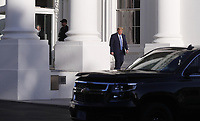 US President Donald J. Trump leaves the White House to walk to St. John's Episcopal Church after delivering remarks in the Rose Garden at the White House in Washington, DC, USA, 01 June 2020. Trump addressed the nationwide protests following the death of George Floyd in police custody.<br /> Credit: Shawn Thew / Pool via CNP/AdMedia