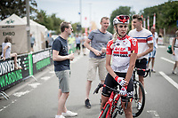Cameron Vandenbroucke (daughter of legendary rider Frank) (BEL/Lotto-Soudal) at the finish of the National Championships Belgium WE - Road Race (NC)<br /> 1 day race from Gent to Gent (120km)<br /> <br /> ©kramon