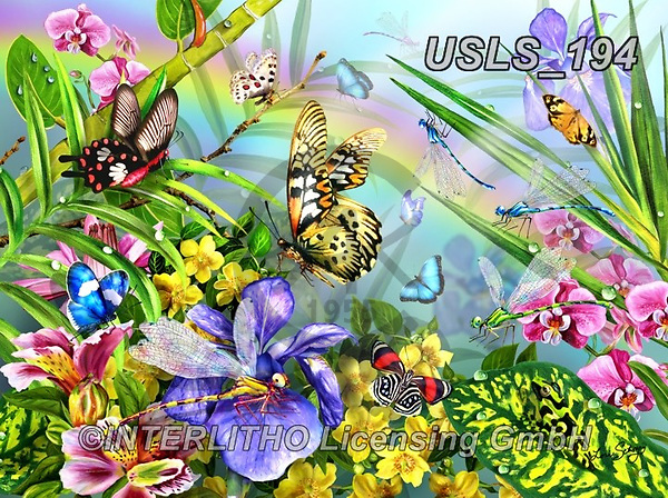 Lori, REALISTIC ANIMALS, REALISTISCHE TIERE, ANIMALES REALISTICOS, zeich, paintings+++++Frog and Butterflies_5_2015_Sunsout_20.5X27.5_10in_72,USLS194,#a#, EVERYDAY ,puzzle,puzzles
