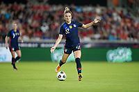 HOUSTON, TX - JUNE 13: Kristie Mewis #22 of the United States moves towards the box during a game between Jamaica and USWNT at BBVA Stadium on June 13, 2021 in Houston, Texas.
