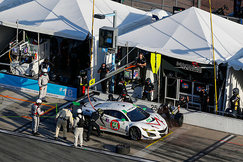 #44: Magnus with Archangel Acura NSX GT3, GTD: John Potter, Spencer Pumpelly, Andy Lally, Mario Farnbacher, Pit Stop