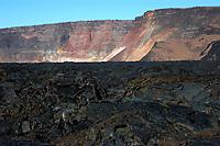 Mokuaweoweo caldera and the 13,679' summit of Mauna Loa volcano the Big Island of Hawaii