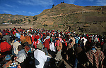 Amérique du Sud. Equateur. Trekking sur les volcans d'Equateur. indiens au marché du samedi de Zumbahua (4000 m) dans la région de Tigua.South America. Ecuador. Trekking on the volcanoes