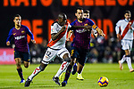 Sergio Busquets Burgos of FC Barcelona (R) battles for the ball with Giannelli Imbula of Rayo Vallecano during the La Liga 2018-19 match between Rayo Vallecano and FC Barcelona at Estadio de Vallecas, on November 03 2018 in Madrid, Spain. Photo by Diego Gouto / Power Sport Images