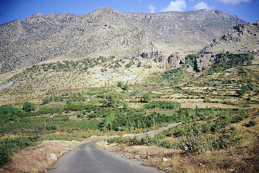 Irak 2000. Paysage de la région de Sharanesh.   Iraq 2000. Landscape around Sharanesh