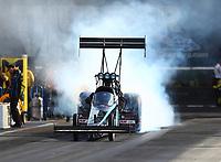 Jun 16, 2017; Bristol, TN, USA; NHRA top fuel driver Scott Palmer during qualifying for the Thunder Valley Nationals at Bristol Dragway. Mandatory Credit: Mark J. Rebilas-USA TODAY Sports
