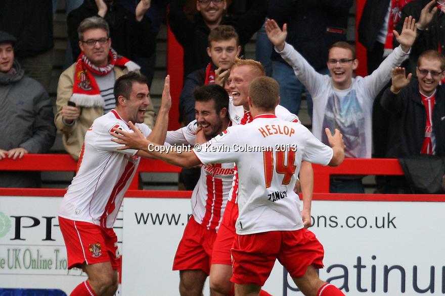 Michael Doughty of Stevenage (on loan from QPR) celebrates scoring their second goal<br />  - Stevenage v Crawley Town - Sky Bet League 1 - Lamex Stadium, Stevenage - 26th October, 2013<br />  © Kevin Coleman 2013<br />  <br />  <br />  <br />  <br />  <br />  <br />  <br />  <br />  <br />  <br />  <br />  <br />  <br />  <br />  <br />  <br />  <br />  <br />  <br />  <br />  <br />  <br />  <br />  <br />  <br />  <br />  <br />  <br />  <br />  <br />  <br />  <br />  <br />  <br />  <br />  <br />  <br />  <br />  <br />  <br />  <br />  <br />  <br />  <br />  <br />  <br />  <br />  <br />  <br />  <br />  <br />  - Crewe Alexandra v Stevenage - Sky Bet League One - Alexandra Stadium, Gresty Road, Crewe - 22nd October 2013. <br /> © Kevin Coleman 2013
