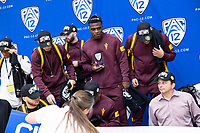 STANFORD, CA - March 7, 2020: Arizona State University is presented with the Conference Championship Trophy during the 2020 Pac-12 Wrestling Championships at Maples Pavilion.