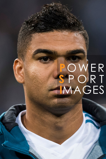 Carlos Henrique Casemiro of Real Madrid prior to the UEFA Champions League 2017-18 match between Real Madrid and Tottenham Hotspur FC at Estadio Santiago Bernabeu on 17 October 2017 in Madrid, Spain. Photo by Diego Gonzalez / Power Sport Images