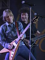 Steve Hill  and Robert Charlebois perform at the Saint-Jean-Baptiste show on the Plains of Abraham Thursday June 23, 2005.