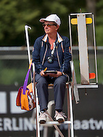 August 9, 2014, Netherlands, Rotterdam, TV Victoria, Tennis, National Junior Championships, NJK,  Umpire Joke Priester<br /> Photo: Tennisimages/Henk Koster