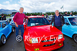 Liam Wharton right and Eamon Leslie Killarney with their 1989 Opel Corsa at the Killarney Valley Classic and Vintage car show in Killarney Racecourse on Sunday