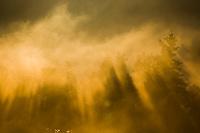 Morning fog over Naknek lake, Katmai National Park, Alaska