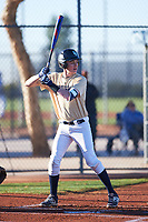 Dustin Parkinson (49), from Rexburg, Idaho, while playing for the Brewers during the Under Armour Baseball Factory Recruiting Classic at Red Mountain Baseball Complex on December 29, 2017 in Mesa, Arizona. (Zachary Lucy/Four Seam Images)