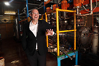 Australian Mines Managing Director Ben Bell heads up the best performed company on ASX in the past year. He is pictured at a demonstration processing plant in Welshpool, Perth, June 27, 2018.  photo by Trevor Collens