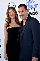 SANTA MONICA, CA: 08, 2020: Jackie Sandler & Adam Sandler at the 2020 Film Independent Spirit Awards.<br /> Picture: Paul Smith/Featureflash