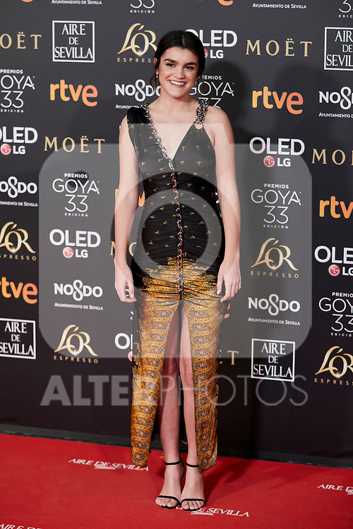 Amaia Romero attends to 33rd Goya Awards at Fibes - Conference and Exhibition  in Seville, Spain. February 02, 2019. (ALTERPHOTOS/A. Perez Meca)