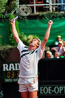 1991, Hilversum, Dutch Open, Melkhuisje, Gustafsson wins the tournament andcelebrates