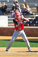 Drew Dosch (11) of the Youngstown State Penguins at bat against the Wake Forest Demon Deacons at Wake Forest Baseball Park on February 24, 2013 in Winston-Salem, North Carolina.  The Demon Deacons defeated the Penguins 6-5.  (Brian Westerholt/Four Seam Images)