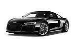 Stock pictures of low aggressive front three quarter view of a 2017 Audi R8 base 2 Door Coupe