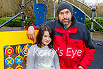 Enjoying the playground in the Killarney National park on Friday, l to r: Nicolas and Kaillina Pouilis.