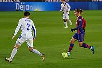 29th December 2020; Camp Nou, Barcelona, Catalonia, Spain; La Liga Football, Barcelona versus Eibar;  Antoine Griezmann FC Barcelona takes on Bigas SD Eibar defender