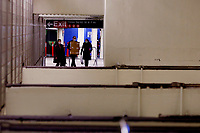 NEW YORK, NEW YORK - FEBRUARY 21: People walks in 42 St. Subway Station on February 21, 2021 in New York. A study found that subway air is polluted, exposing the people to high concentrations of hazardous metals and harmful pollutants.  (Photo by John Smith/VIEWpress via Getty Images)