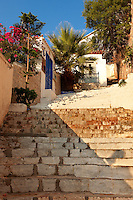 Narrow streets & houses of Hydra,Greek Saronic Islands