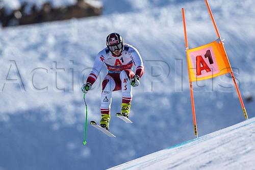 11th November 2020; Obergurgl, Austria; Daniel Hemetsberger of Austria during a free downhill training for the mens OeSV team in Obergurgl, Austria