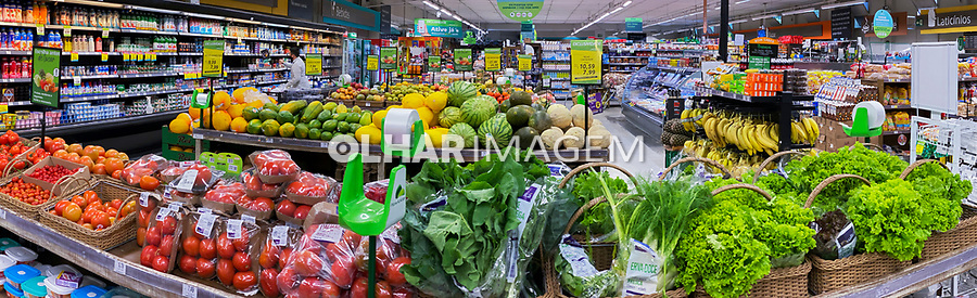Vista panorâmica de supermercado, bairro Perdizes. São Paulo. 2021. Foto Juca Martins